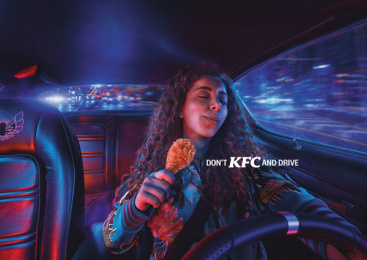 Kentucky Fried Chicken (KFC): Don't KFC and drive - Night Bite Print Ad by TBWA\RAAD Dubai