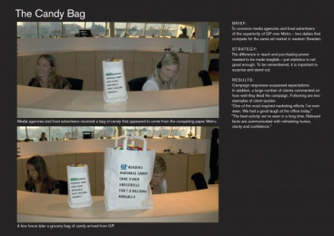 Goteborgs-posten: THE CANDY BAG Direct marketing by Forsman & Bodenfors Gothenburg