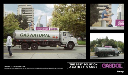 Gastricumeel: NATURAL GAS TRUCK Outdoor Advert by Ogilvy & Mather Santiago