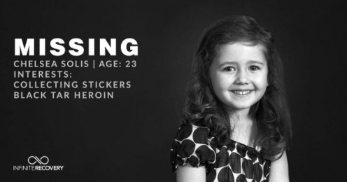 Infinite Recovery: Missing Girl Print Ad by Rock Candy USA