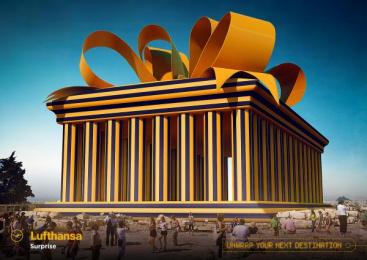 Lufthansa: Parthenon Print Ad by Miami Ad School Hamburg
