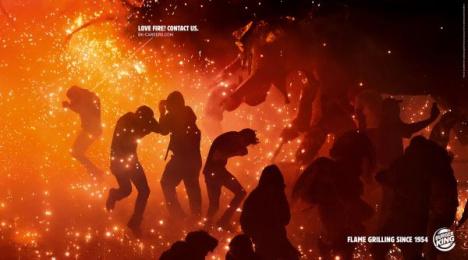 Burger King: Love Fire, 1 Print Ad by Grabarz & Partner Hamburg