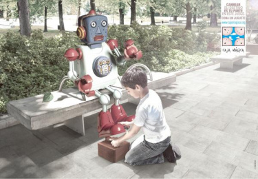 Fundación Caja Mágica: Play the game, 2 Print Ad by Zea BBDO Venezuela