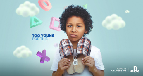 Sony Playstation: Children's Day: Too Young For This Print Ad by WILD Fi Buenos Aires