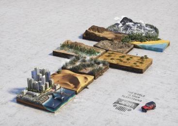 Jeep: Hopscotch Print Ad by Publicis Dubai