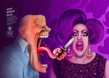 Noiz Projeto Social: Stop Hate - Homophobia Print Ad by 3A Worldwide Rio de Janeiro
