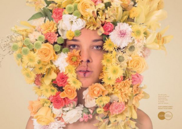 Aefi Spanish Florist Association: Yellow Print Ad by Y&R Madrid