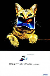 Epson Printers: CAT'S DINNER Print Ad by DDB Paris