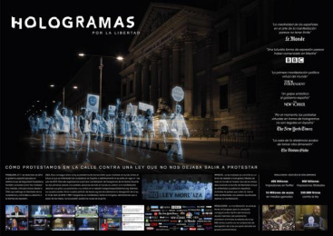 No Somos Delito (We Are Not Crime): Holograms for Freedom [spanish] Ambient Advert by DDB Madrid, Garlic