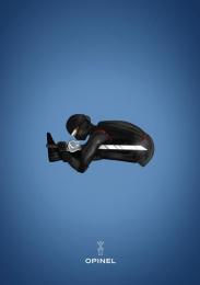 Opinel: Ninja Print Ad by Maryse Eloy School