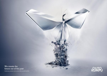 Outokumpu Stainless Steel: Butterfly Print Ad by Euro Rscg Helsinki
