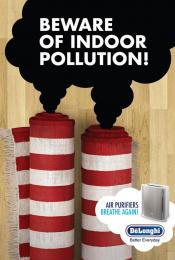 "De'longhi Air Purifiers: Beware of Indoor Pollution ""DeLonghi Carpets"" Print Ad by Drive Dentsu Beirut"