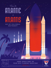 Space Florida: Atlantis Print Ad by Paradise Advertising
