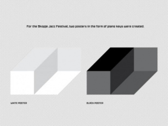 Skopje Jazz Festival: Piano Print Ad by New Moment New Ideas Company Skopje