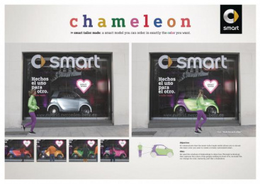 Smart: Chamaleon [image] Outdoor Advert by Contrapunto BBDO Madrid, Cubensis