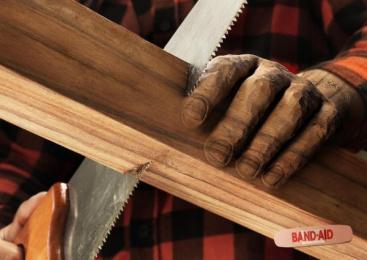 Band-Aid: Wood Print Ad by DDB Sao Paulo