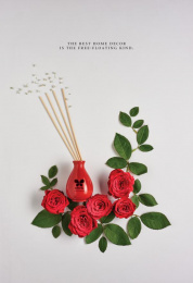 Iris Home Fragrances: Rose Print Ad by Plan B, Yellow Umbrella Productions
