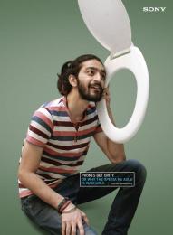 Sony Xperia M4 Aqua: Commode Phone Print Ad by ITSA Brand Innovations Ltd, MAP (Manoj Adhikari Productions)