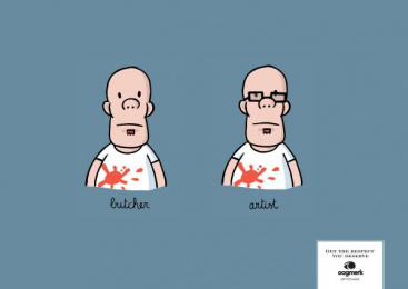 Oogmerk Opticians: Oogmerk Artist Print Ad by Lg&f