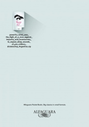 Alfaguara: The Secret in Their Eye Print Ad by FCB Lisbon