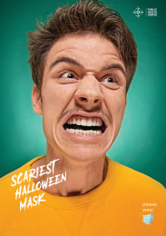Public Health Center: Scariest Halloween Mask, 2 Print Ad by Angry Kyiv