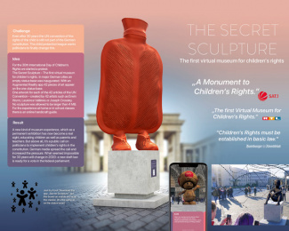 German child protection Association: The Secret Sculpture Print Ad by Serviceplan, Germany, Neverest