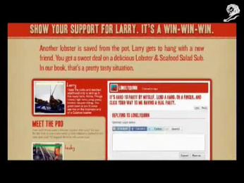 Quizno's Subs: QUIZNOS LONELY LOBSTER Promo / PR Ad by VML Kansas City