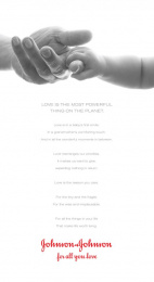 Johnson & Johnson: For All You Love Print Ad by TBWA\Chiat\Day USA