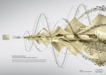 Audi Sound plus: Brahms Print Ad by Kempertrautmann Hamburg