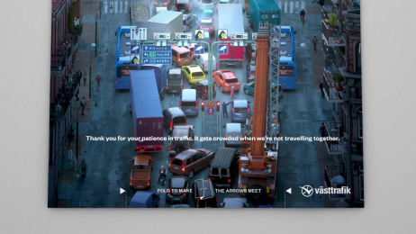Västtrafik: Traffic Folding Ad, 2 Film by Forsman & Bodenfors Gothenburg