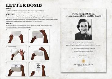 Nelson Mandela Foundation: LETTER BOMB Direct marketing by Grey Johannesburg