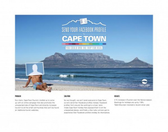 Cape Town Tourism: SEND YOUR FACEBOOK PROFILE TO CAPE TOWN Direct marketing by Ogilvy Cape Town, R.E.C.