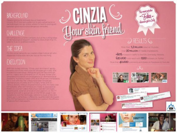 IDI Pharmaceuticals: CINZIA, YOUR SKIN FRIEND Digital Advert by Leo Burnett Milan