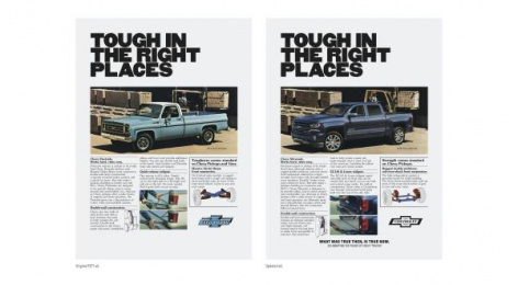 Chevrolet Trucks: Then/Now Buff, 5 Print Ad by Commonwealth/McCann Detroit, Supply&Demand
