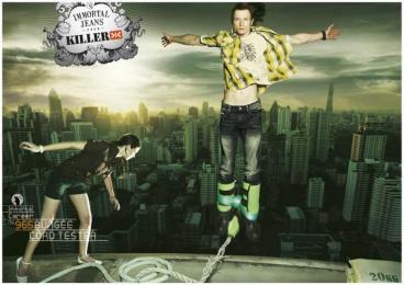 Killer Jeans: Killer Jeans Jump Print Ad by Bates Mumbai