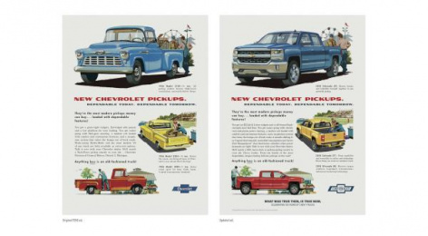 Chevrolet Trucks: Then/Now Buff, 4 Print Ad by Commonwealth/McCann Detroit, Supply&Demand