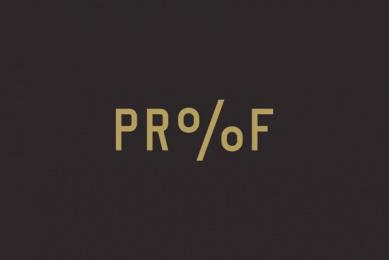 Proof Cocktails & Curiosities: Pr%F Identity, 1 Design & Branding by Wax