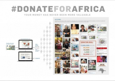 Dfc Deutsche Fundraising Company: Donate for Africa. Your money has never been more valuable. [image] 3 Design & Branding by Scholz & Friends Berlin