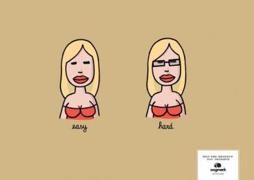 Oogmerk Opticians: Oogmerk Easy Hard Print Ad by Lg&f