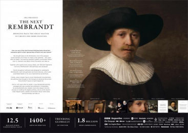 ING: The Next Rembrandt [image] Digital Advert by J. Walter Thompson Amsterdam, Kreukvrij