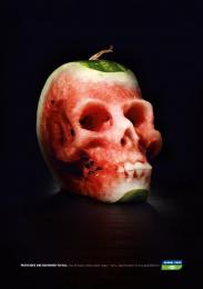 Global 2000: Melon Skull Outdoor Advert by PKP BBDO Vienna
