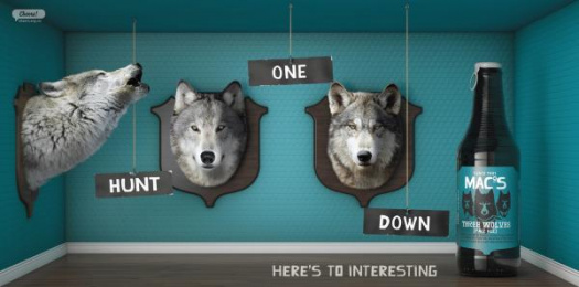 Mac's Brewery: Mac's 3 Wolves Outdoor Advert by Meares Taine Auckland, Shine Limited / Auckland