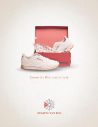Reebok: Toes Print Ad by The Creative Circus