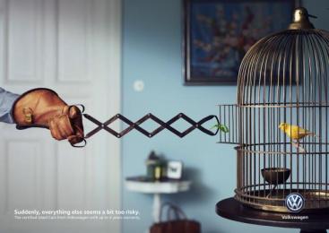 Volkswagen: Bird Print Ad by DDB Berlin