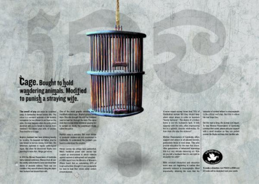 Women Peacemakers Cambodia: CAGE Print Ad by Champagne Havas, Rosapark Paris