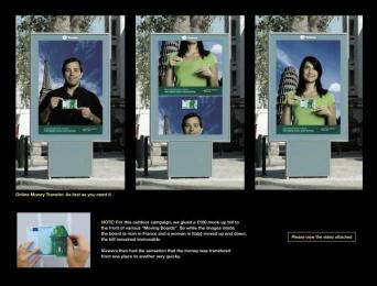 Online Money Transfer: MOVING BILLBOARD Outdoor Advert by Leo Burnett Lisbon