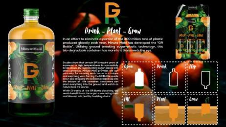Minute Maid: GR Bottle, 2 Design & Branding by Miami Ad School Miami