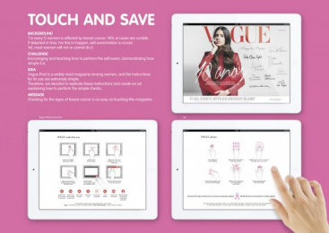 Vogue: TOUCH AND SAVE Promo / PR Ad by Ogilvy & Mather Lisbon