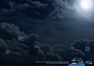 Util: In The Clouds, 2 Print Ad by Kindle Rio de Janeiro
