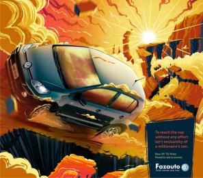 Fazauto: New UP! Powerful and economic, 2 Print Ad by G Marketing Comunicação